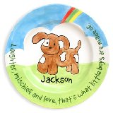 Puppy Boy Personalized Plate