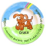 Puppy Girl Personalized Plate