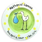 Stork Boy Personalized Plate