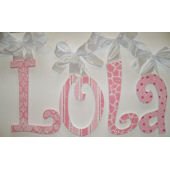 A Charmed Life Lola Wooden Wall Letter