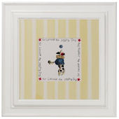 Circus Dog Juggling  Primary  Wall Art