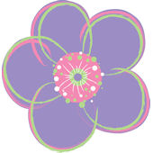 Wall Pops Poppies Purple Set  4 Shapes