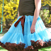 Ally Girl Blue and Brown Pettiskirt