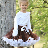 Ally Girl Brown and White Pettiskirt