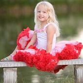 Ally Girl Pink and Red Pettiskirt