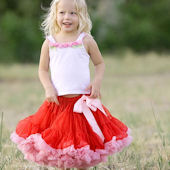 Ally Girl Red and Pink Pettiskirt