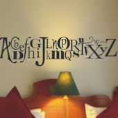 Alphabet Wall Sticker Decal