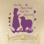 Baa Baa Black Sheep Girl Wall Sticker Decal
