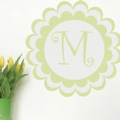 Bloomster Monogram Wall Sticker Decal
