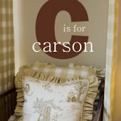 C is For Carson Wall Decal Sticker