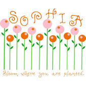 Candy Flowers Wall Sticker Decal
