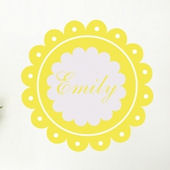 Dainty Decal Monogram Wall Sticker Decal