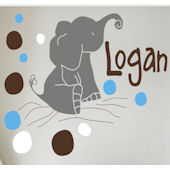 Elephant Dots Wall Sticker Decal