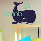 Jacobs Whale Wall Decal Sticker