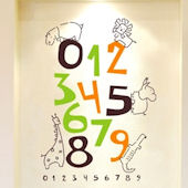 Jungle Numbers Wall Sticker Decal
