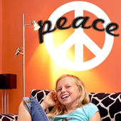Peace Sign Wall Decal Sticker
