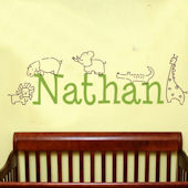 Personalized Jungle Animals Wall Decal Sticker