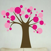 Polka Dot Candy Tree Wall Sticker Decal