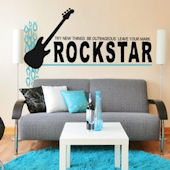 Rock Star Leave Your Mark Wall Decal Sticker