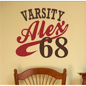 Varsity Personalized Wall Decal Sticker