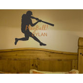 Play Ball Personalized Wall Sticker Decal