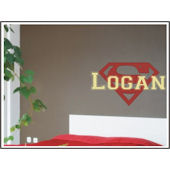 Personalized Superman Wall Sticker Decal