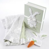 Bunnies in the Garden 3-Piece Blanket Gift Set
