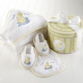 Dilly the Duck Four Piece Bath Time Gift Set