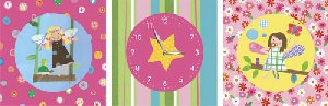 Art Time Fairy Friends Wall Art and Clock