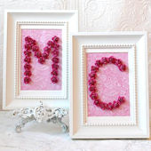 Hot Pink Rose Personalized Frame
