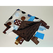 Blue and Brown Jumbo Dots Minky Blanket
