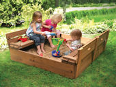 Covered Convertible Cedar Sandbox