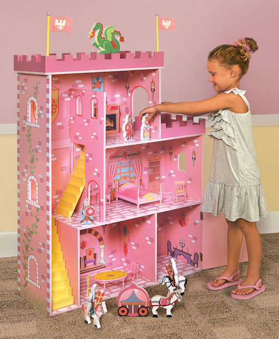 Fantasy Play Castle Dollhouse With Accessories The Frog