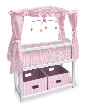 Badger Basket Doll Crib with Canopy | Wayfair