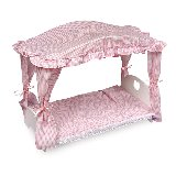 Canopy Doll Bed with Bedding