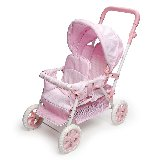 Folding Double Doll Front-to-Back Stroller - Pink