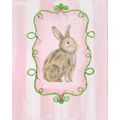 Brown Bunny Sitting Framed Art Girls