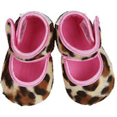 Lollipop Leopard Baby Booties