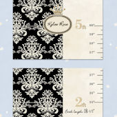 Bella Baby Art Black Damask Growth Chart