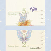 Bella Baby Art Butterfly Dance Growth Chart