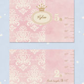 Bella Baby Art Damask Growth Chart