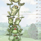 Bella Baby Art Royal Frogs Growth Chart