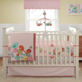 Banana Fish Migi Modern Blossom 3 Pc Crib Set