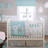Banana Fish Fun Floral 3 Piece Crib Set