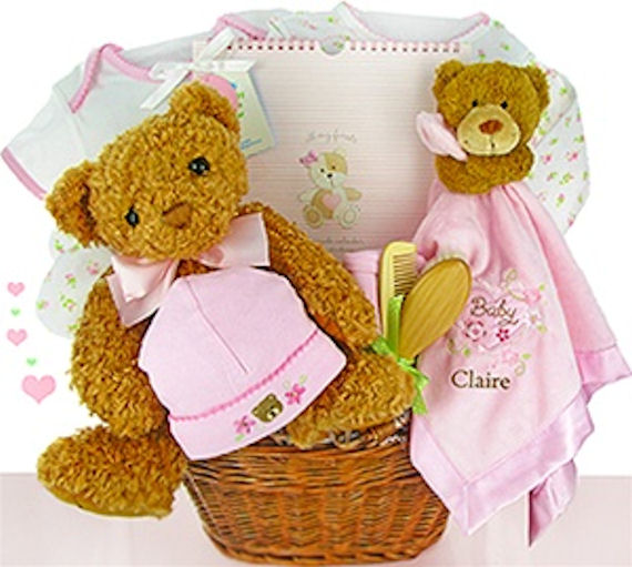 Bear Essentail Personalized Gift Basket Girl