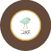 Blue Birdie Personalized Dinnerware