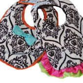 Baby Jakes Crown Cotoure Reversible Bib