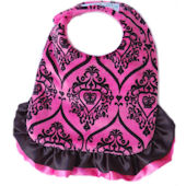Baby Jakes Pink And Black Reversible Bib