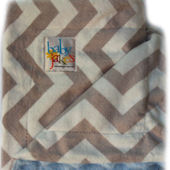 Baby Jakes Chevron Blue And Gray Blanket