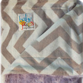 Baby Jakes Chevron Lavander And Gray Blanket